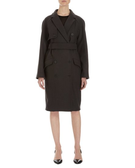 A classic shape, rich color, and modern interpretation make this felted wool trench coat ($2,650) truly covetable.