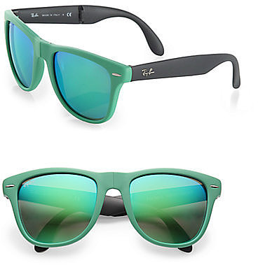 Ray-Ban Folding Round Rubber Wayfarer Sunglasses