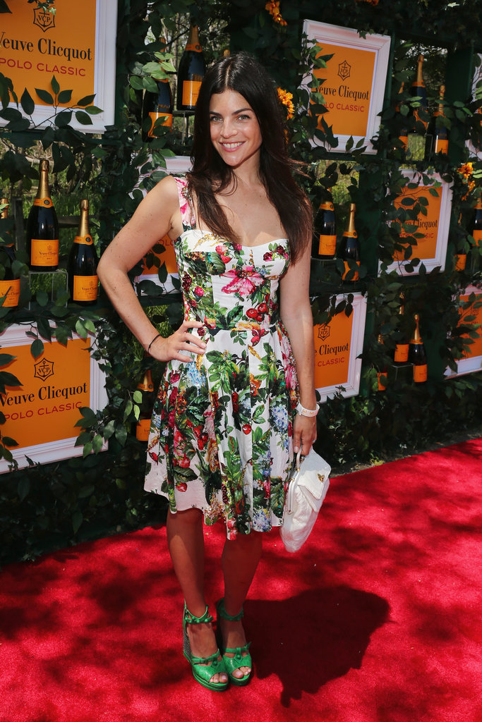 Julia Restoin Roitfeld's green shoes amped up her floral dress even more at the 6th Annual Veuve Clicquot Polo Classic.