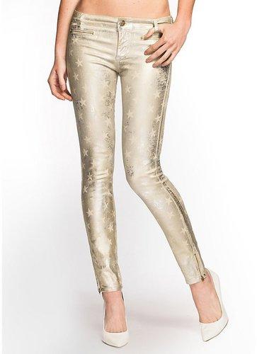 7-Zip Star Metallic Foiled Jeans