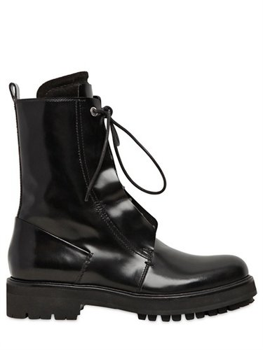 40mm Brushed Calfskin Combat Boots