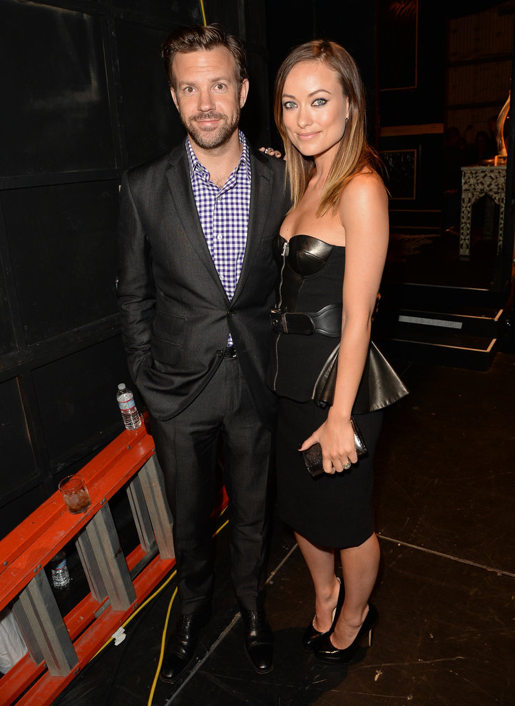 Jason Sudeikis and Olivia Wilde posed backstage at the Guys Choice Awards.