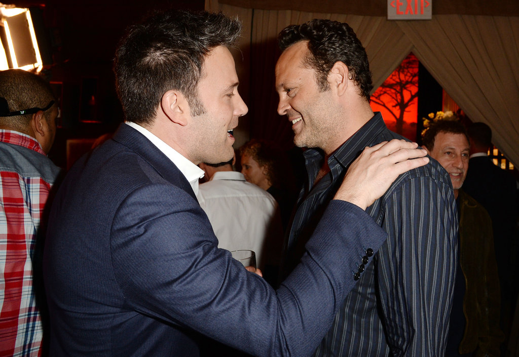 Ben Affleck and Vince Vaughn chatted backstage at the Guys Choice Awards.