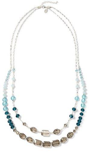 Convertible Silvertone Sea Glass/Lagoon Necklace