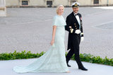 Princess Mette-Marit of Norway and Crown Prince Haakon of Norway attended the wedding.