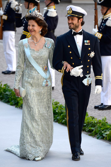 Princess Madeleine's brother, Prince Carl Philip, and Queen Silvia arrived for the festivities.