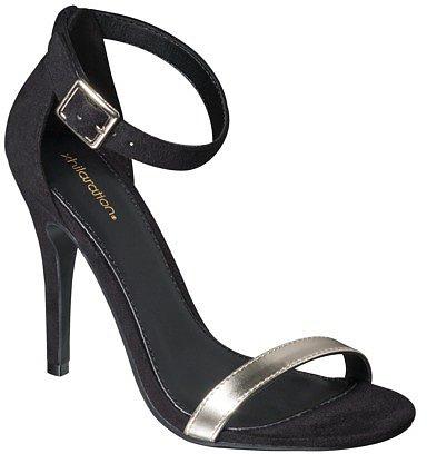 Women's Xhilaration® Susy Strappy Heel - Black