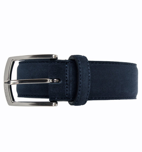 BOSS Sesily Navy Suede Buckle Belt