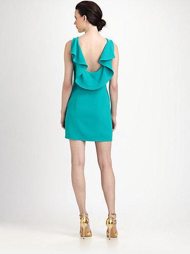 Rachel Roy Ruffled Scoop-Back Dress
