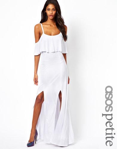 ASOS PETITE Maxi Dress With Ruffle Detail