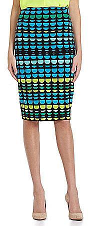 Vince Camuto Semicircle Midi Tube Skirt