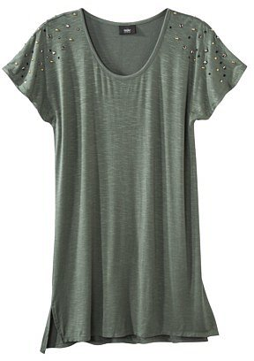 Mossimo® Women's Short Sleeve Studded Tee - Assorted Colors