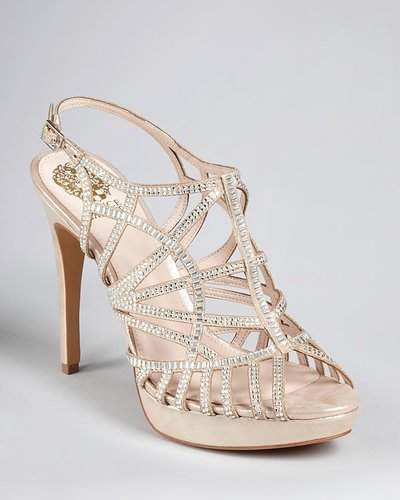 VINCE CAMUTO Platform Evening Sandals - Janene High Heel