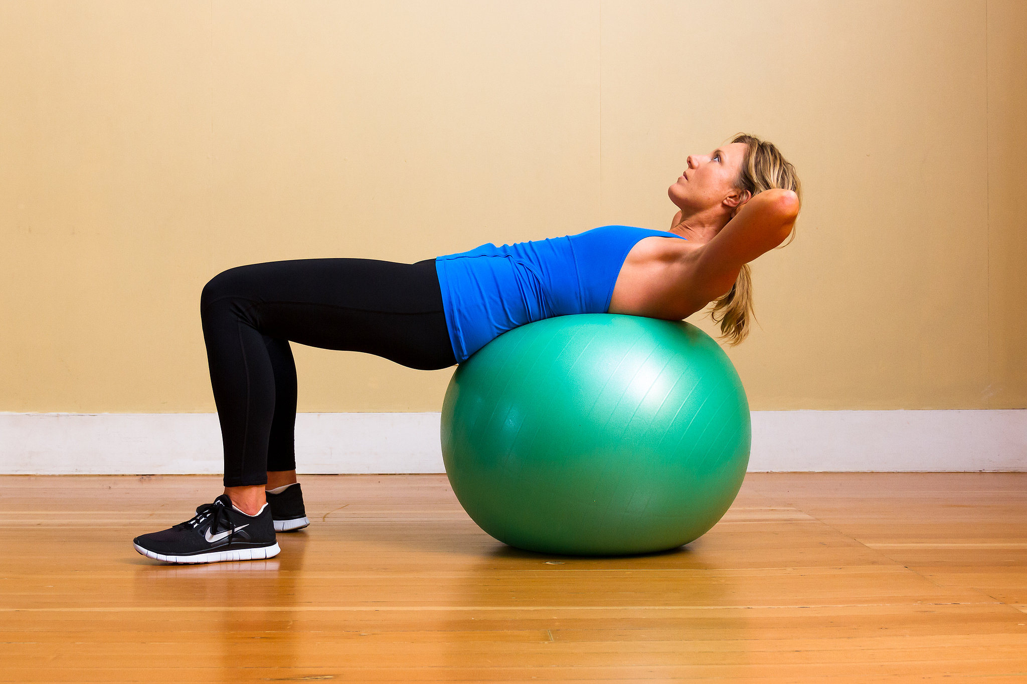 Fitness ball abs workout
