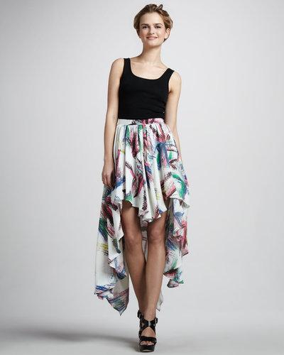 Talulah Printed Asymmetric Skirt
