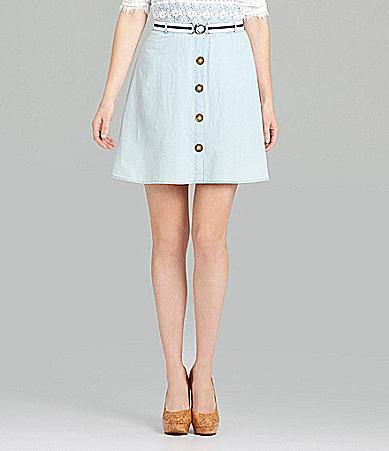 Cremieux Farrah Chambray Swing Skirt