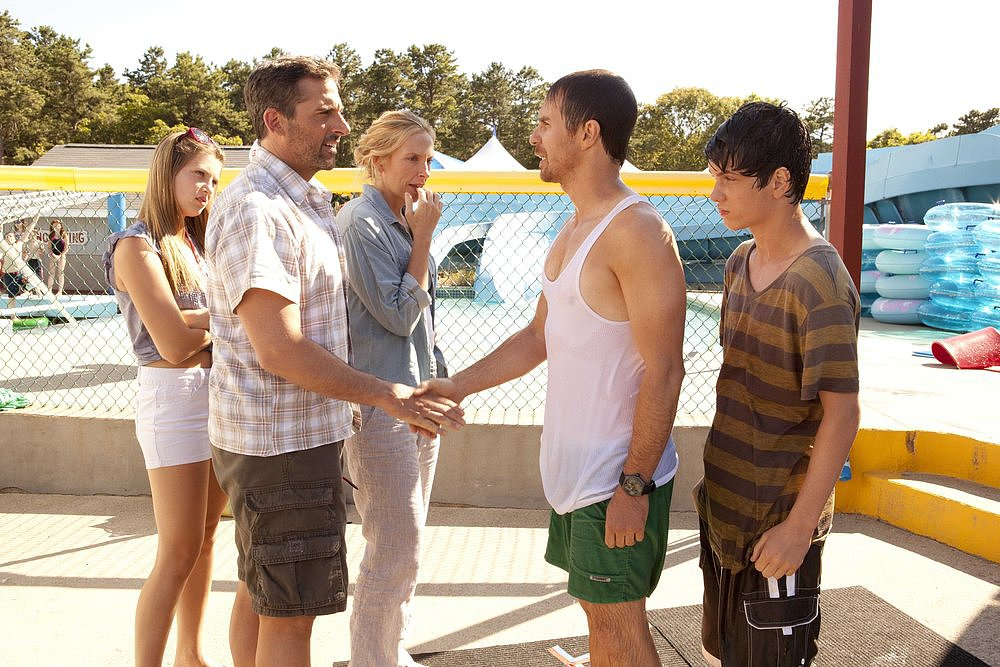 Zoe Levin, Steve Carell, Toni Collette, Sam Rockwell, and Liam James in The Way, Way Back.