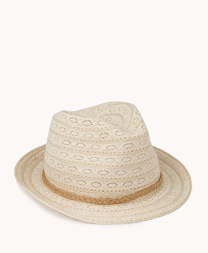 FOREVER 21 Crocheted Panama Hat