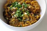 Tumeric-Spiced Mushroom Pilaf
