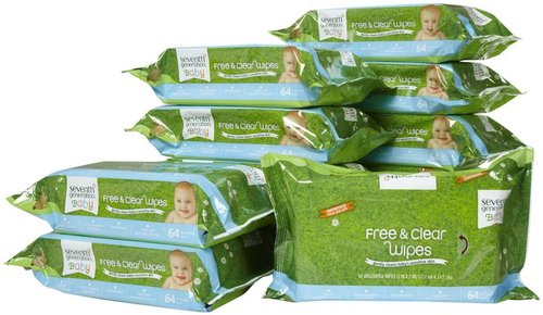 Seventh Generation Free & Clear Baby Wipes Refills 768ct.