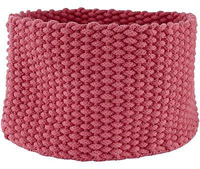 Medium Pink Kneatly Knit Rope Bin