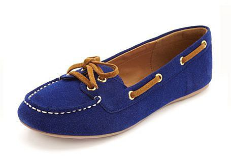 Sueded Stitch-Front Moccasin