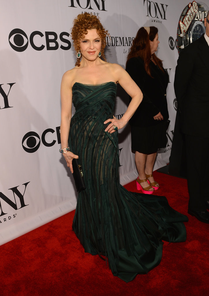 Bernadatte Peters looked elegant in an emerald green shredded chiffon and duchess satin Donna Karan Atelier gown, which she finished with coordinating jewel-drop earrings.