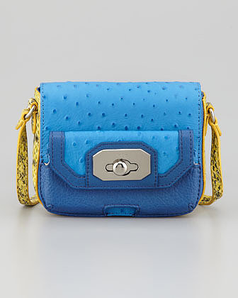 Rafe Monique Phone-Pocket Crossbody Bag, Blue