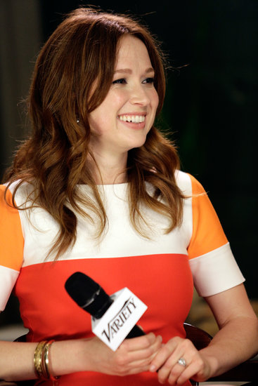 Ellie Kemper's loose waves gave the actress a playful vibe.