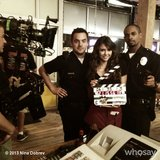 Just another day on set with three of TV's beloved stars. Source: Nina Dobrev on WhoSay