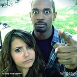 Nina Dobrev and Damon Wayans Jr. took a serious selfie. Source: Nina Dobrev on WhoSay