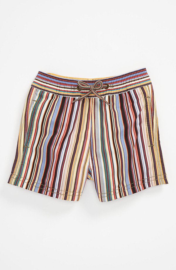 Hit the beach in style in Paul Smith's chic multicolored stripes ($68).