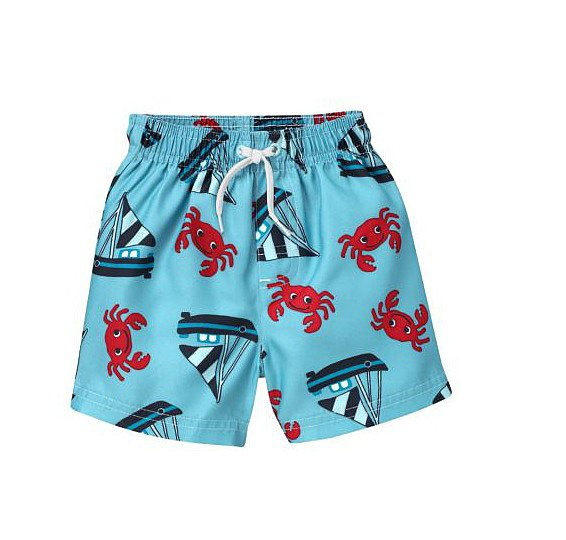 Sail out to sea in Gymboree's adorable Crab and Sailboat Swimsuit ($13, originally $22).