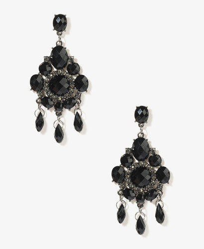 FOREVER 21 Circle Chandelier Earrings