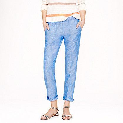 Linen-cotton pant