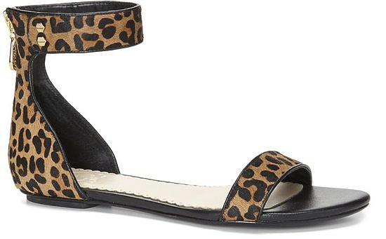 These aren't your beach sandals — C. Wonder's leopard calf-hair ankle-strap sandals ($128) are an everyday sandal with polish and personality.