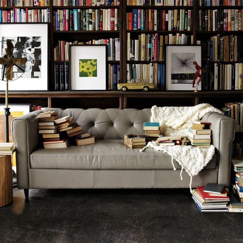 Chester Tufted Leather Sofa