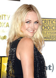 Malin Akerman's sexy cat eye paired perfectly with her textured waves.