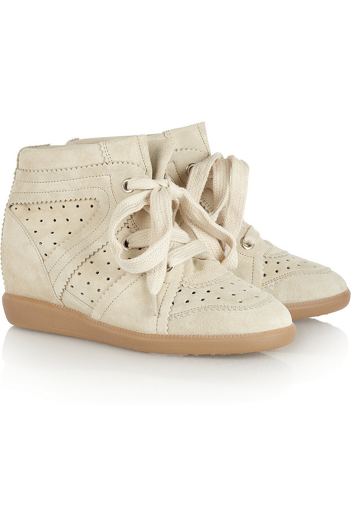 As the designer behind the sneaker craze, we're hoping Isabel Marant produces these Bobby suede sneakers ($640) for the H&M crowd.