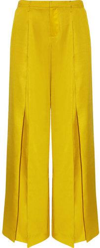 Maiyet Silk-satin wide-leg pants