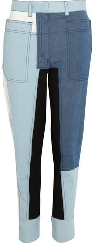 3.1 Phillip Lim Patchwork chambray tapered pants