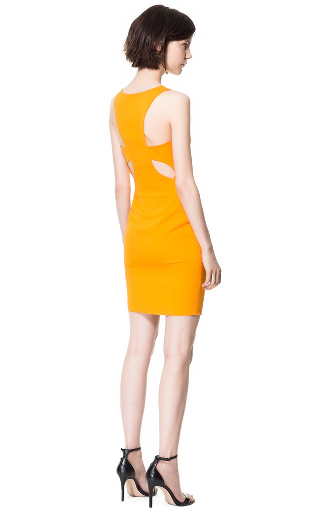 It's all about the rear view on this marigold Zara style ($90).