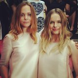 Stella McCartney posed with Kate Bosworth at her Spring 2014 presentation in Brooklyn, NY. Source: Instagram user stellamccartney