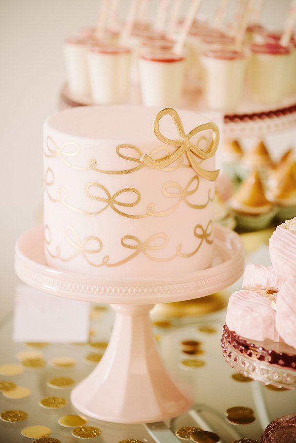 Pink and Gold Mini Cake