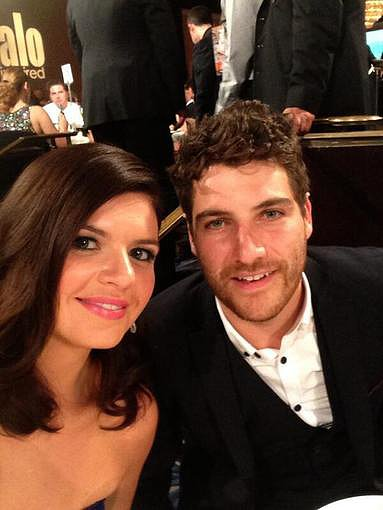 Happy Endings stars Casey Wilson and Adam Pally shared a snap at the Critics' Choice Television Awards. Source: Twitter user caseyrosewilson