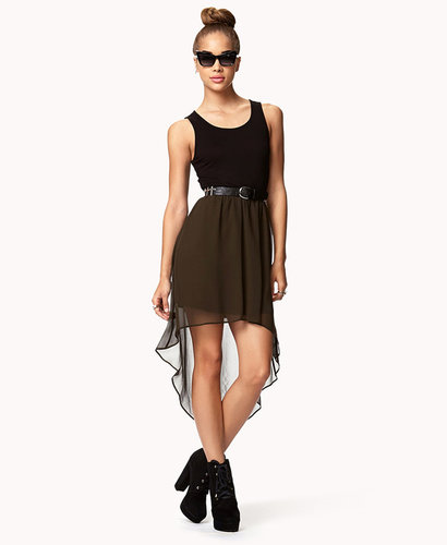 FOREVER 21 High-Low Combo Dress