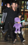 Brad Pitt had his son Pax as his travel companion in Seoul, South Korea.