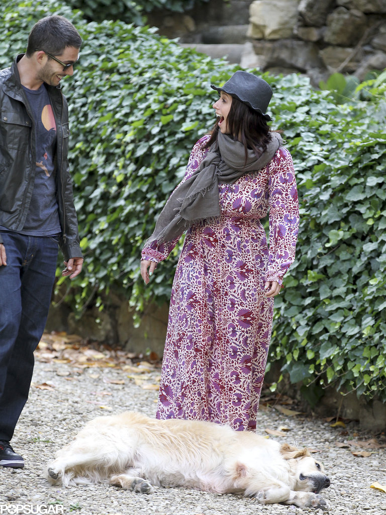 Jennifer Love Hewitt got excited over a dog in Florence, Italy.