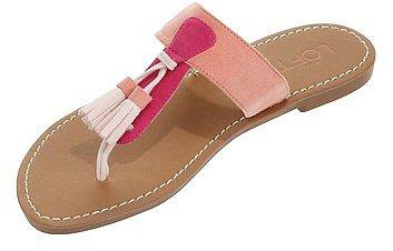 Vanessa Tassel Slide Sandals