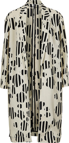 Daisy Print Side Split Coat